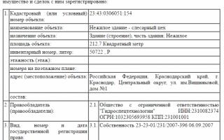 Что содержит выписка из ЕГРП на недвижимое имущество