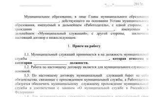 Дополнительное соглашение к договору муниципального служащего